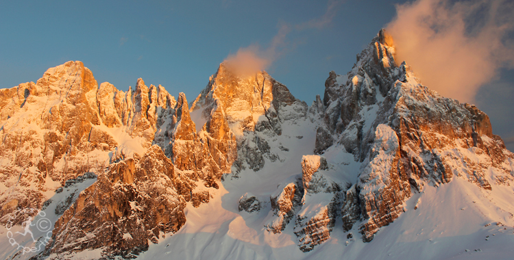 Tramonto a Passo Rolle